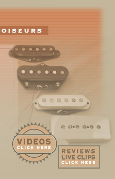 Reviews and sound clips featuring hand wound pickups